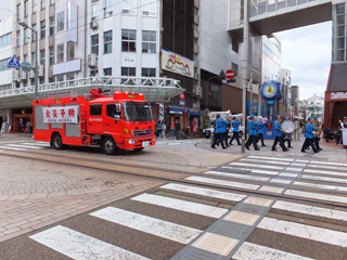 春の火災予防運動防火パレード